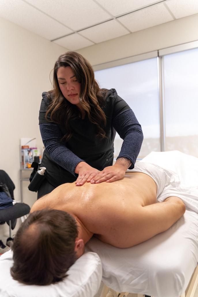 RMT Shayla massaging client